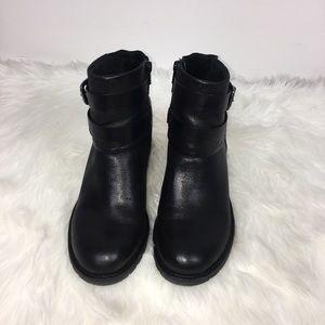 BareTrap Buckle Black Ankle Boots Size 10